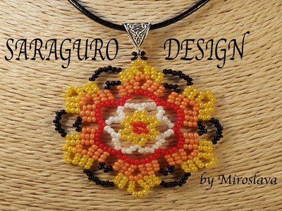 Beautiful SARAGURO Design for Pendants and Earrings!!! Beading by Miroslava