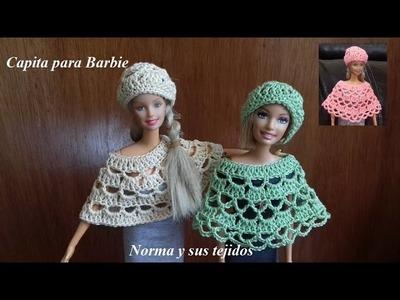 Capita para barbie ( practicando el crochet)