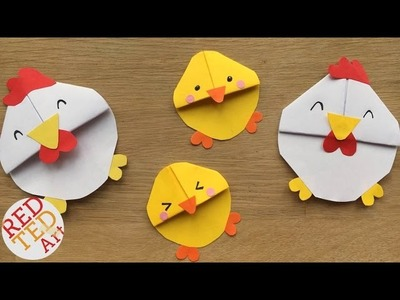 Chicken Bookmark Design - Chicks & Chickens for Spring & Easter DIYs - Cute & Easy Paper Crafts