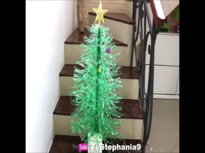Christmas tree with bottle pet