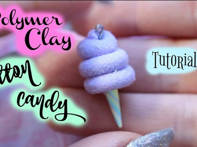 Cotton Candy Polymer Clay Tutorial - DIY Cotton Candy - Carnival Food | Leo Soleil