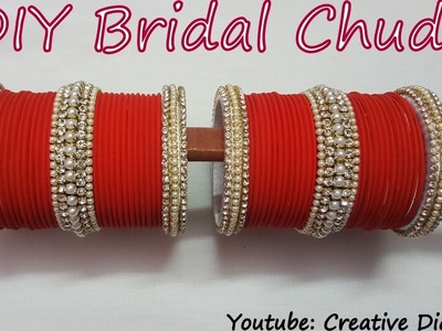 DIY Bridal Chuda: Make your own bridal chuda from old bangles at home in few easy and simple steps