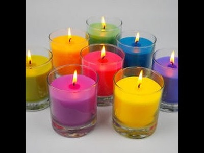 DIY Candles! Simple way to recycle old candles.