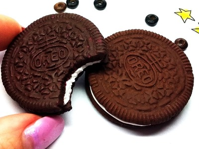 DIY Charm | Real OREO Cookie | How to make mold - Polymer Clay Tutorial