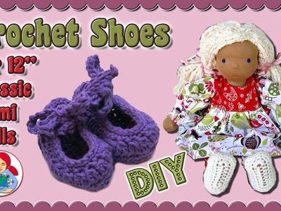 "DIY   Crochet shoes for 12"" dolls (Classic Sami Doll pattern) • Sami Doll Tutorials"