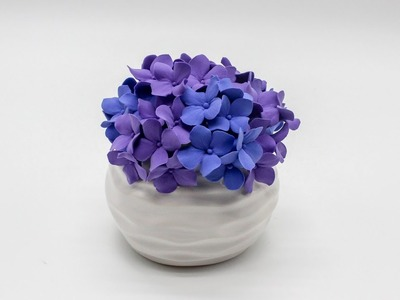 DIY Deco Clay Flower Tutorial | How to make Hydrangeas