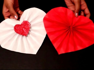 DIY- Easy Valentine's Day Craft : DIY Paper Heart Decoration ideas