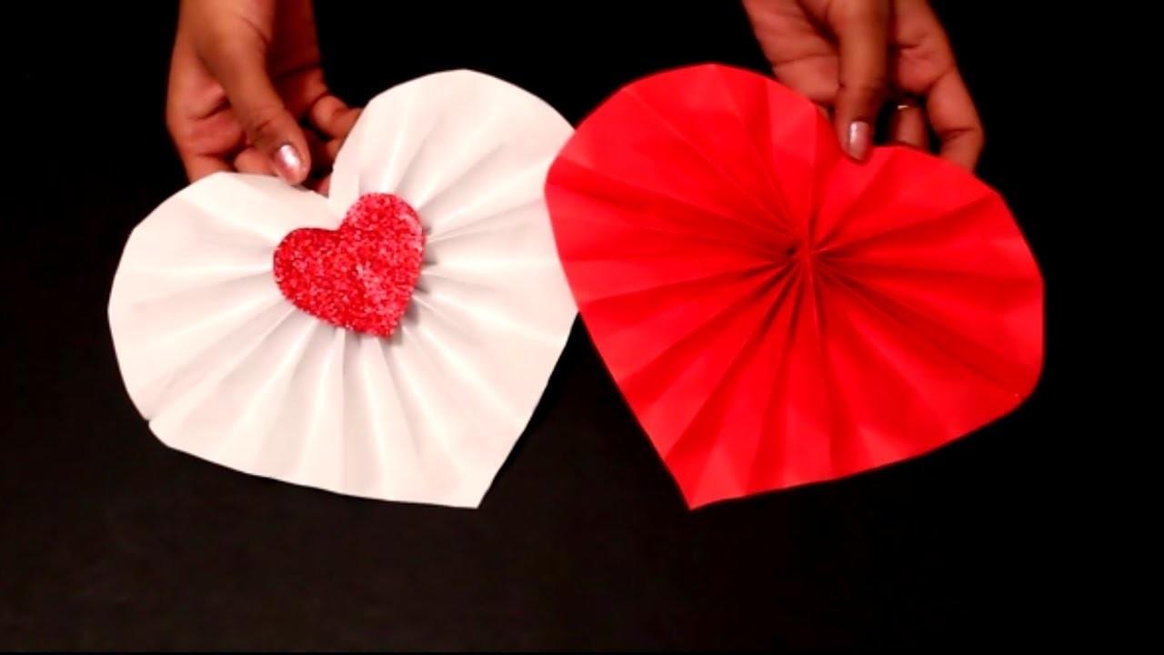 DIY- Easy Valentine's Day Craft : DIY Paper Heart Decoration ideas