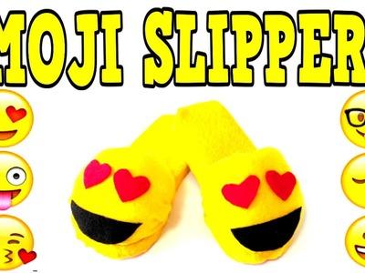DIY EMOJI SLIPPERS! Make Your Own DIY Emoji Slippers! EASY DIY Slipper Tutorial!