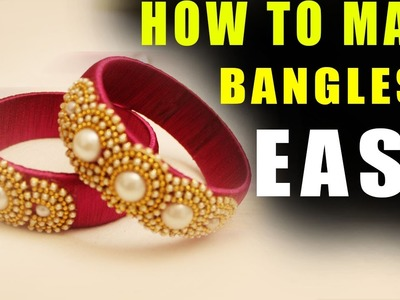 DIY Fancy Bangles At Home| How to Make Zig zag Silk Thread Bangles Making Tutorial || for Beginners