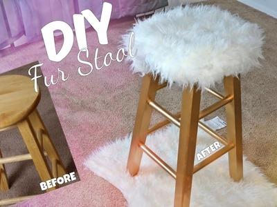 DIY GOLD FUR STOOL | EASY & AFFORDABLE