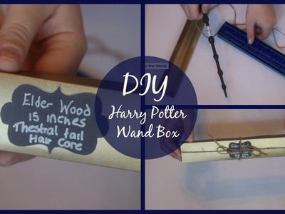 DIY Harry Potter Wand Box! | Harry Potter prop easy craft