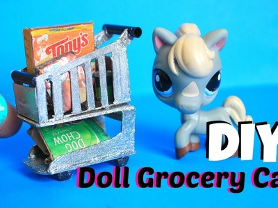 DIY How to make a doll Grocery Cart