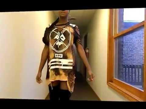 DIY Instagram Distressed t-shirt dress tutorial