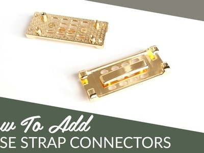 DIY Rectangle Purse Strap Connector Tutorial by Sallie Tomato