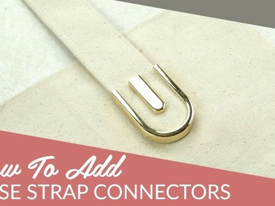 DIY Rounded Purse Strap Connectors Tutorial by Sallie Tomato