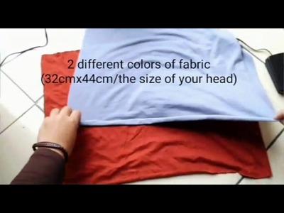 DIY : tube underscarf. hijab undercap. hijab caps tutorial membuat ciput 2 warna bisa silang