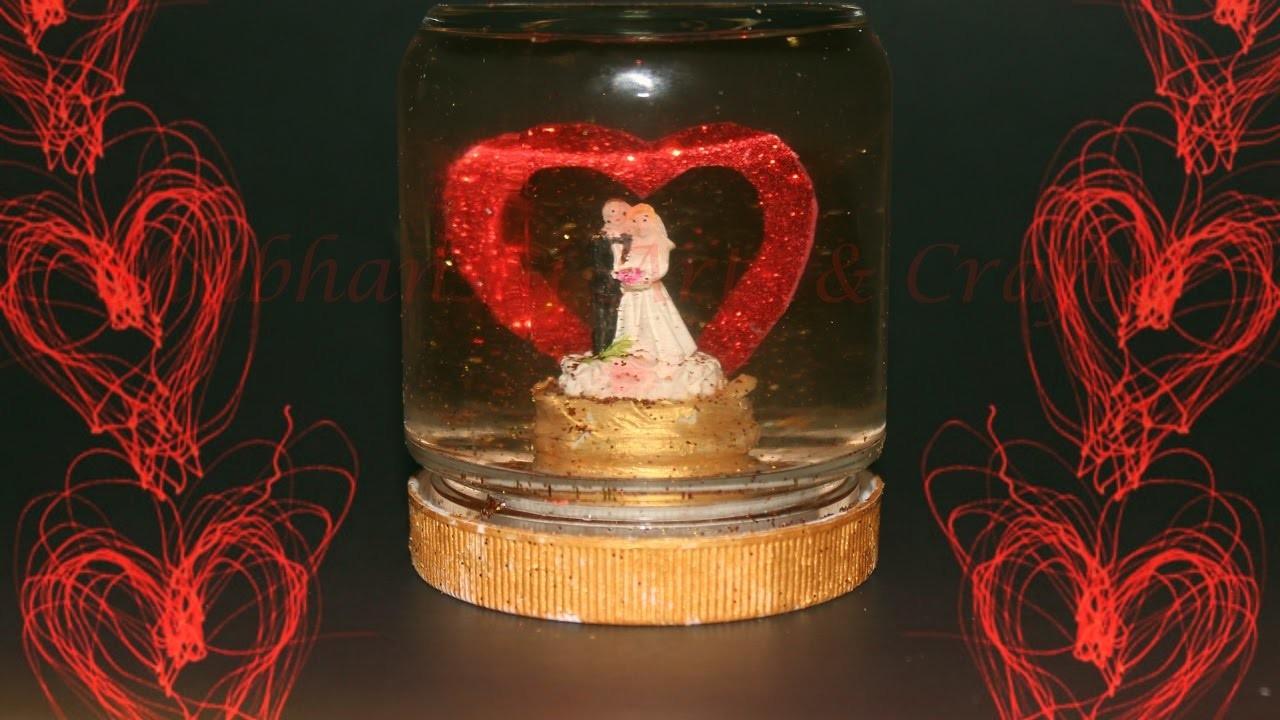 DIY Valentine's Love Globe   Valentine's day craft ideas   Gift for love