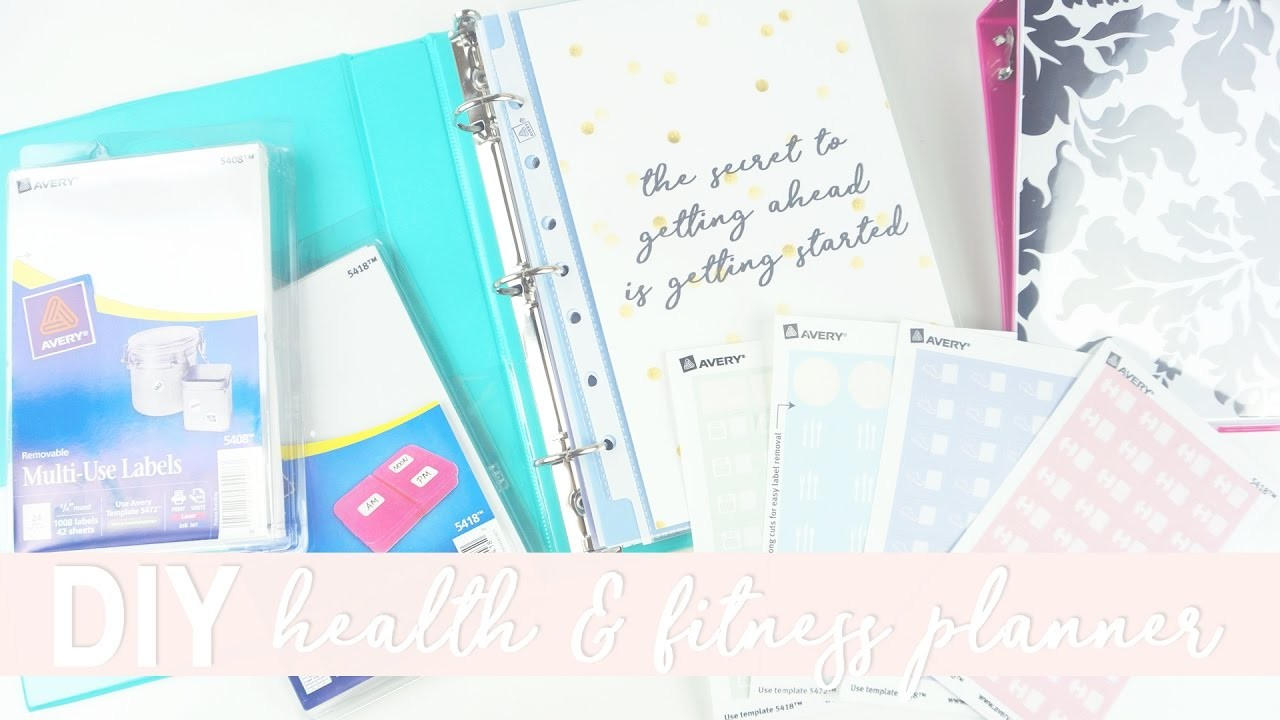 Easy and Affordable DIY Health and Fitness Planner