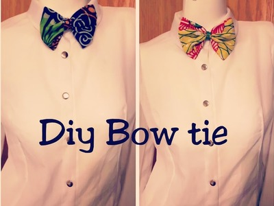 Easy DIY Bow Tie with African Print
