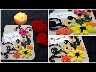 Easy Valentine's day DIY card tutorial | Quilling for beginners | Paper crafts | Valentine's decor
