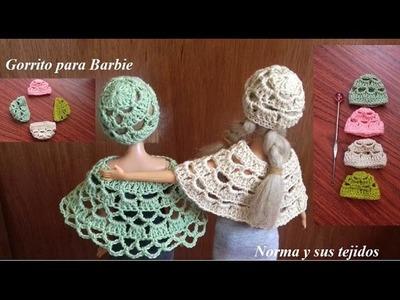 Gorrito para barbie (practicando el crochet)