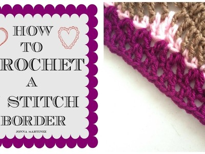 How To Add A V Stitch Border On A Virus Blanket