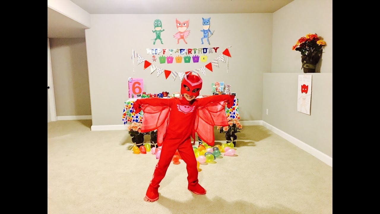 How To: DIY PJ MASKS THEME BIRTHDAY PARTY TUTORIAL