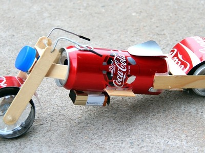How to Mak a Toy Motorcycle - Amazing Coca-Cola Motorcycle DIY