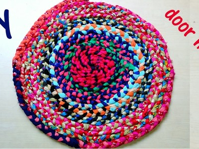How to make a doormat at home with waste cloth DIY