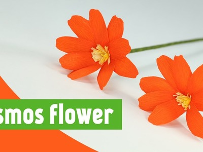 How to Make Paper Flowers with Duplex Crepe Paper - DIY Cosmos Flower Making Tutorial