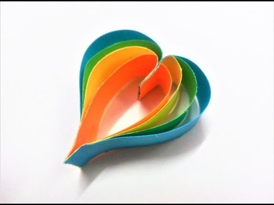 How to make paper heart for decorations | DIY Paper Craft Ideas, Videos & Tutorials.