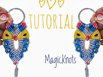 Micro Macrame Owl Key Chain 3 ♥DIY♥