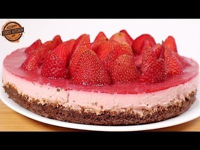 No Bake Strawberry Cheesecake recipe - How to make DIY