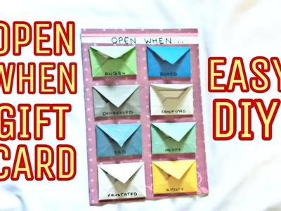 Open when Envelop Card, Easy DIY , Craft Guru