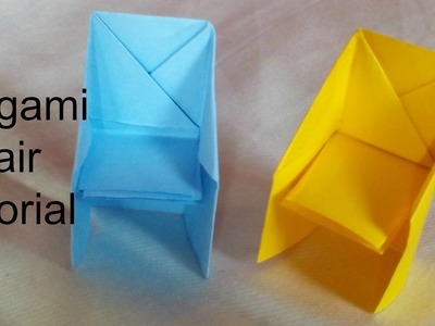 Paper Craft: How To Make Origami Chair Tutorial - Easy Origami in 5 Min DIY FOR ROOM DECOR.