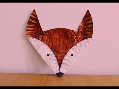 Paper Plate Fox Tutorial ~~ Kids Craft ~~ DIY ~ Step by Step Instructions . .