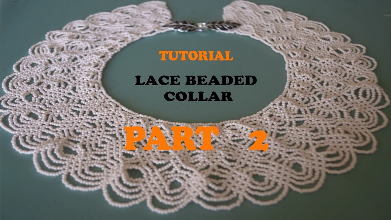 Collar, PART 2: SARAGURO Lace Collar! Amazing project in ...