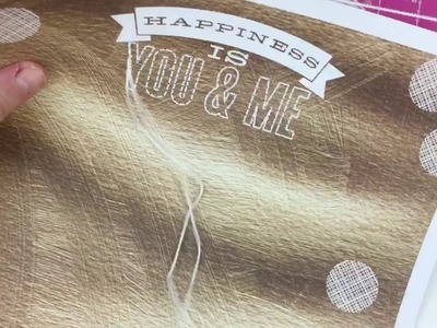 Scrapbook Tutorial - How to hand stitch on your layouts.Craft.Homemade.DIY stitching.January 2017
