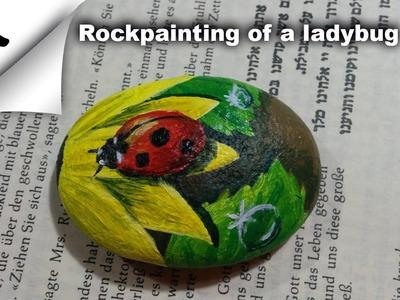 Speed Painting Rockpainting of a ladybug 2
