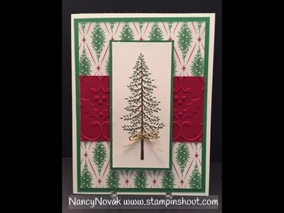 Stampin Up Thoughtful Branches Video Series #5 of 5 - Christmas Tree