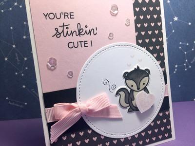 Stinkin' Cute Valentine's Day Card | Stellar Crafts by Pam