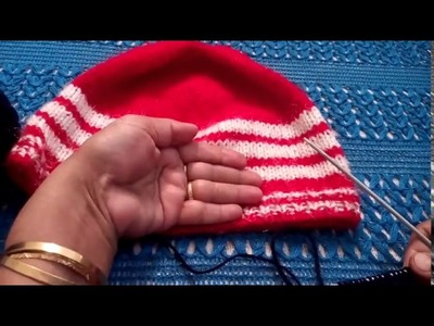 247 - How to knit a simple CAP for beginners  (Hindi.Urdu) 15.1.17
