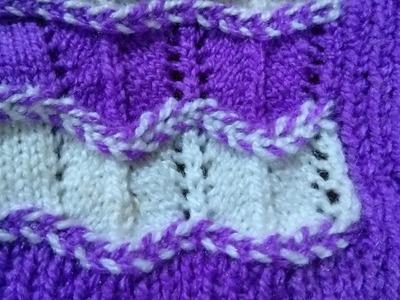 Beautiful net design sweater knitting