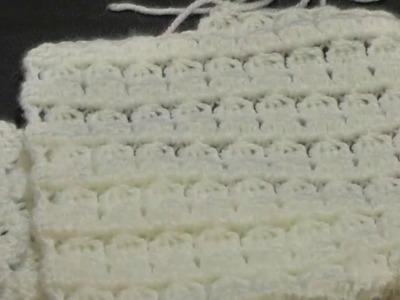 Cluster Stitch Scarf crochet كوفية كروشيه