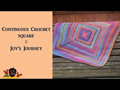 Continuous Crochet Square - Joy's Journey Continuous Square blanket