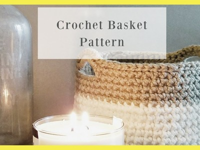 Crochet Basket-Bowl- Free Pattern