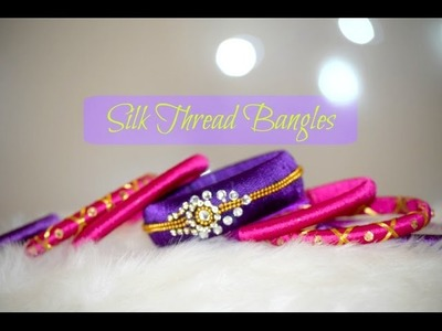 DIY Designer Silk Thread Bangles | How to make Traditional Bridal Bangles at Home