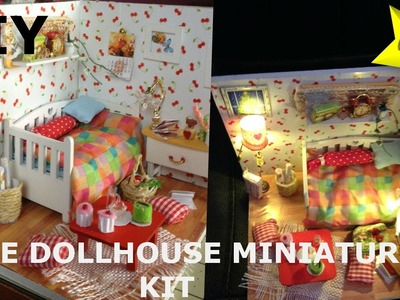 DIY DollHouse Cute Miniature Kit.How To Make a Doll Room.Bedroom