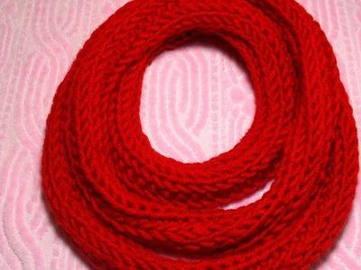DIY Finger Knitting Scarf - How to Finger Knit Scarfs